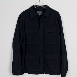 H&M Navy Coat Jacket Button Down